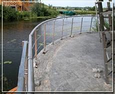 Лестничные перила (ограждения, поручни) из нержавеющей стали